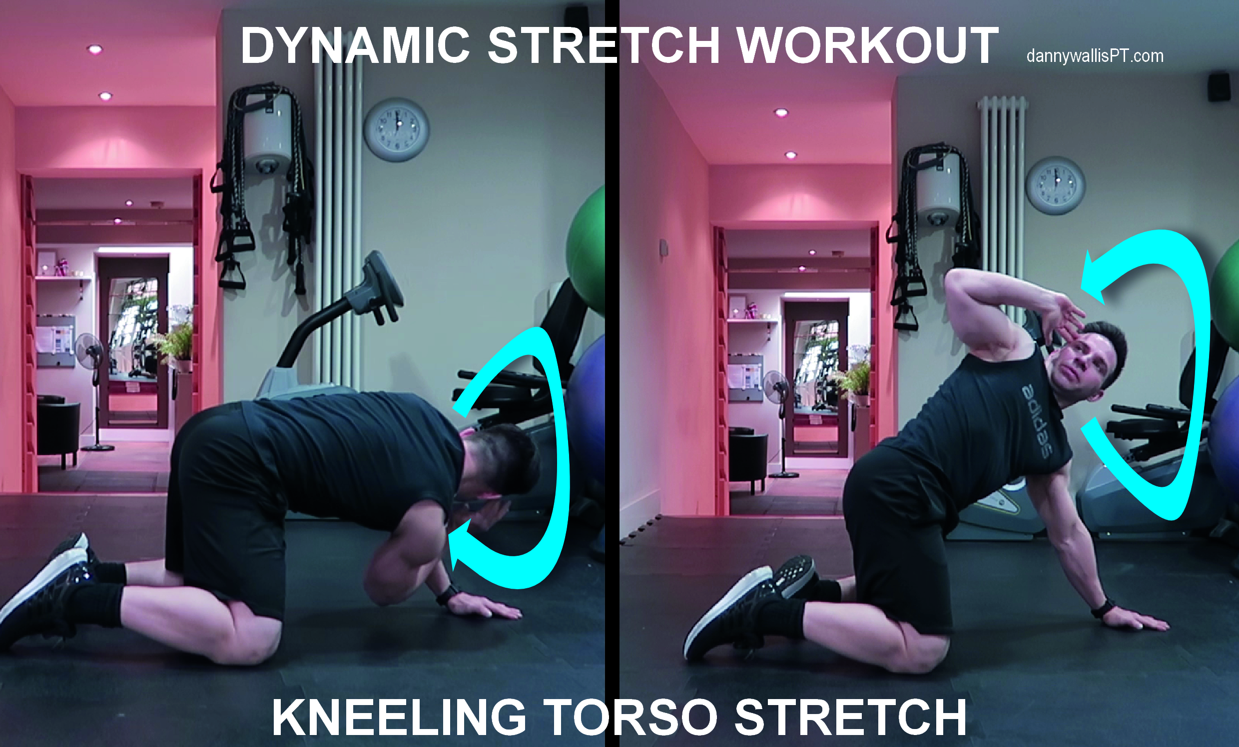 Dynamic Stretching: Kneeling Thoracic Twists