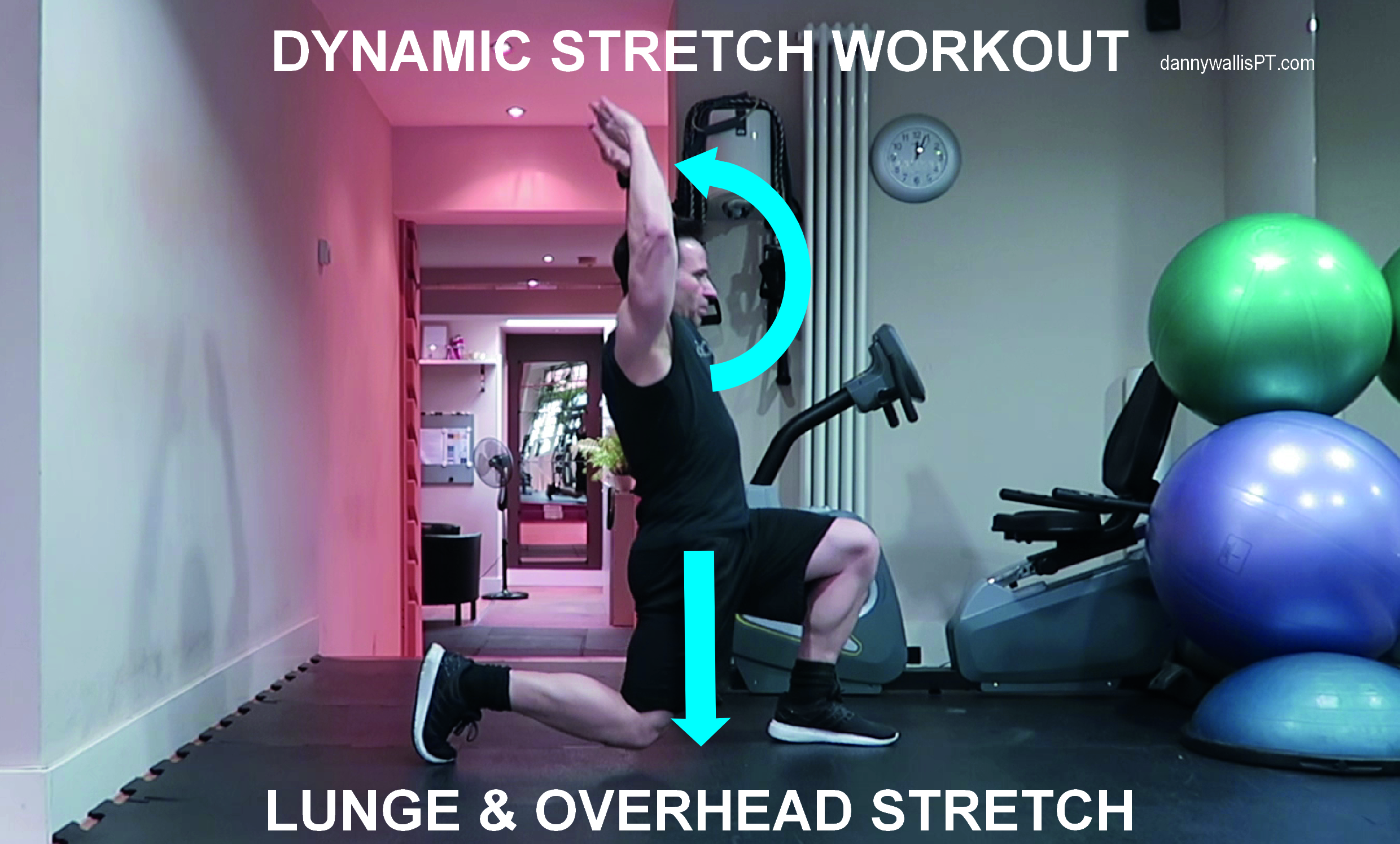 Dynamic Stretching: Lunge and overhead stretch