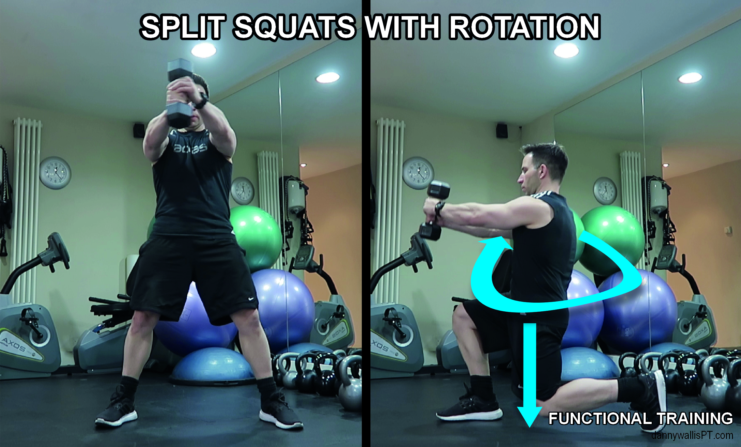 split squat with rotation: Functional training Blog Post